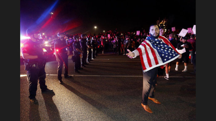 Protests Rage Outside Trump Rally In Orange County; 17 arrested, Police Car Smashed (Video)