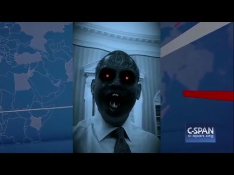 Obama Mocks Christians 'Anti Christ' Comments By Appearing As A Demon in White House Dinner (Video)