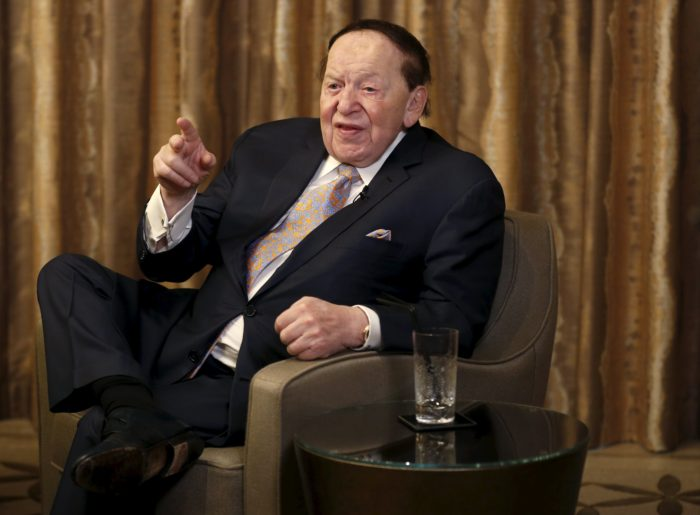 Sheldon Adelson Pledges $100 Million to Elect Trump President