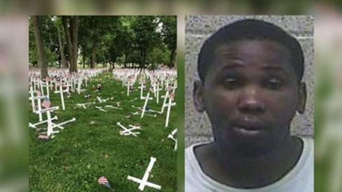 Thug Defaces Veterans' Memorials In Advance Of Memorial Day