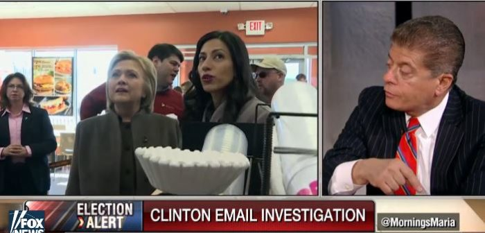 Watch Judge Napolitano: 'Leaks Could Trigger 'Saturday Night Massacre' In Hillary Email Probe'