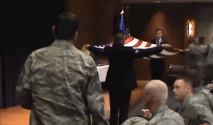 WATCH: Veteran Forcibly Dragged From Air Force Ceremony For Mentioning God