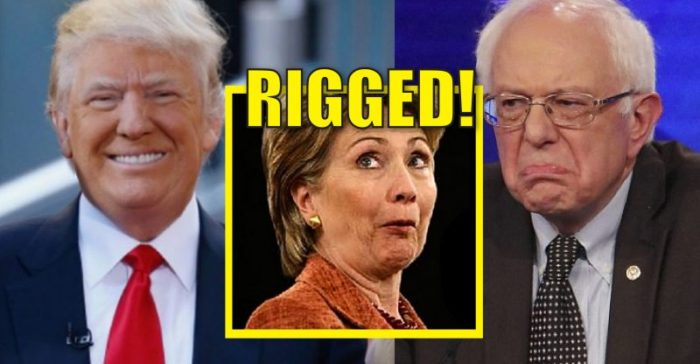 "Bernie Sanders Supporters ""The System is Rigged – NEVER HILLARY!"""