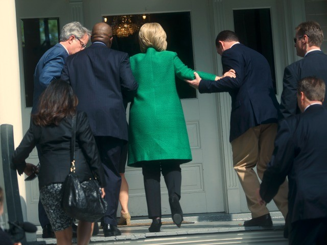 Internet Melts Down Over Photos Of Hillary Clinton Getting Helped Up the Stairs (Video)