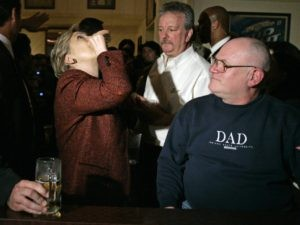 Hillary-doing-shots-Carolyn-Kaster-Associated-Press-300x225