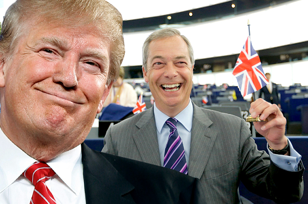 UK Independence Party Leader At Trump Rally: 'You Can Beat the Pollsters, And Washington' (Video)