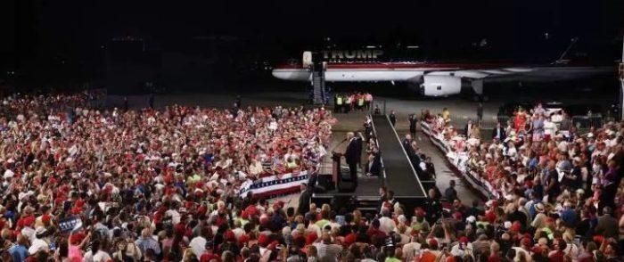 Post Debate Surge: Trump Fills Massive Florida Hangar For Rally, THOUSANDS Turned Away (Video)