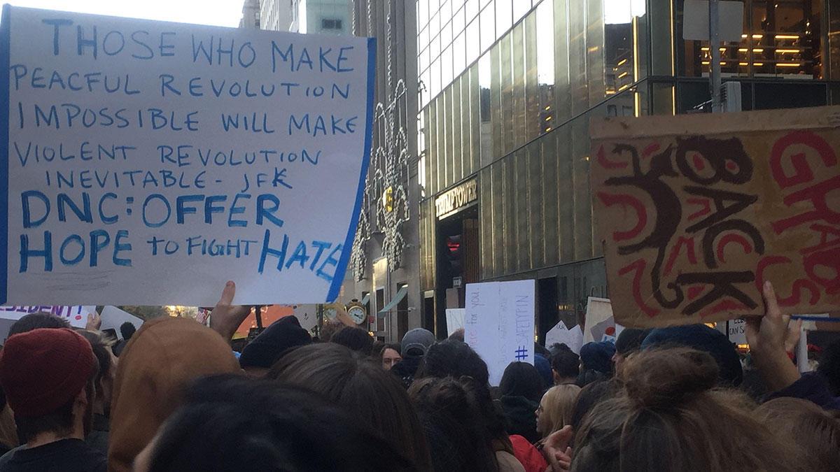 trumptowerprotesters1111