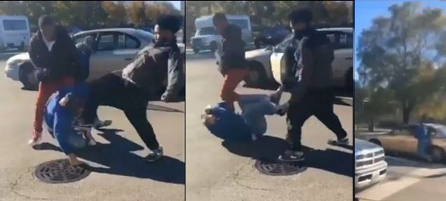 Shocking Video: Black Mob Viciously Beats Older White Donald Trump Supporter