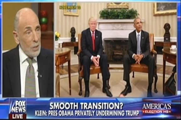 Report: Obama Is Setting Up Shadow Government To Undermine Trump Starting On Inauguration Day (Video)