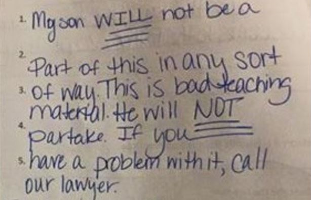 Outraged Mother Saw Her 7th Grader's Homework… Her SCATHING Response Is PERFECT