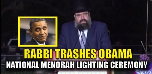 Rabbi Uses National Hanukkah Menorah Lighting To TRASH Obama UN Move (Video)