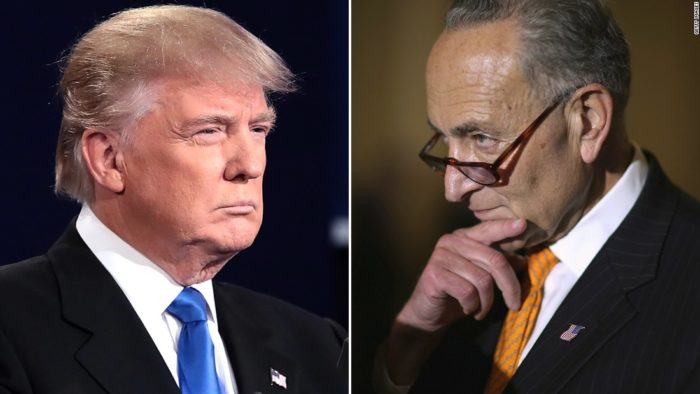 Perhaps He Needs Acting Lessons? – Donald Trump Responds To Chuck Schumer's Tears (Video)