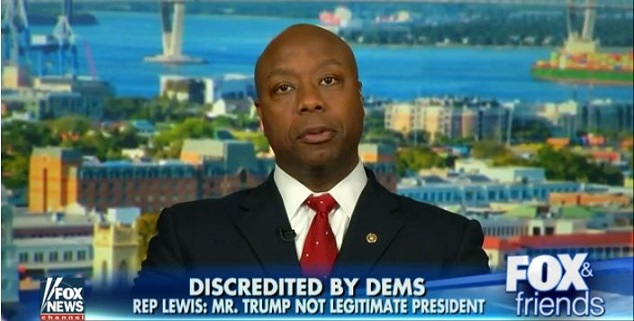 Sen. Tim Scott Reacts To John Lewis 'Trump Not Legitimate President' (Video)
