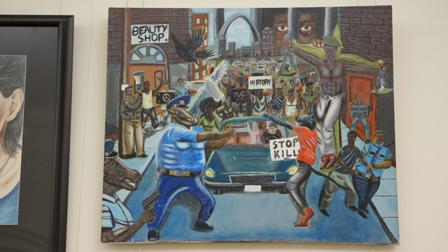 Democrats Re-Hang Painting Depicting Police As Pigs (Video)
