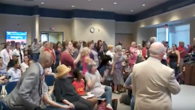 Obama, Clinton, Soros Thugs Shout Down Prayer, Pledge In Senator's Town Hall (Video)