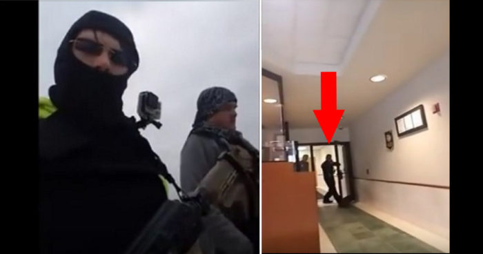 Masked Thugs Walk Into Police Station Wielding AK-47- LOOK What Happens Next! (Video)