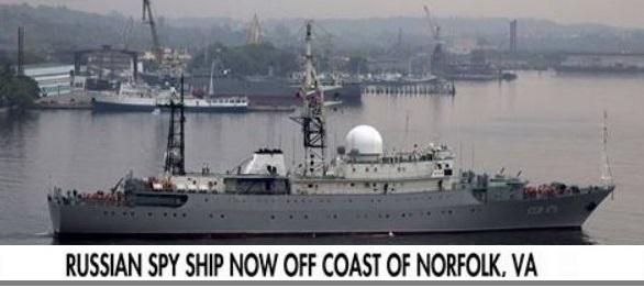 Russian Spy Ship 'Loitering' Off Virginia Near World's Largest Naval Base (Video)