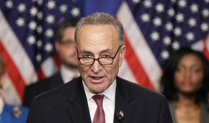 Chuck Schumer Plans New 'Blue Wall' To Block Donald Trump's Border Wall