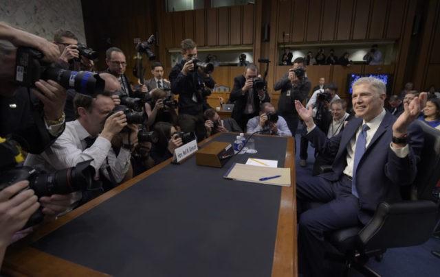 The Latest: FBI Investigation Complicates Gorsuch Nomination