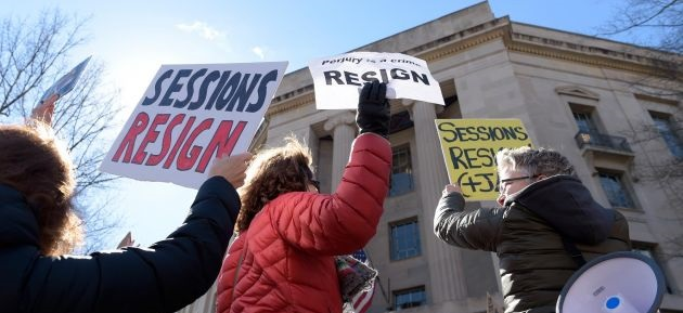 Right On Cue, Soros-Financed MoveOn.Org Holds DC Protest Demanding Sessions' Resignation