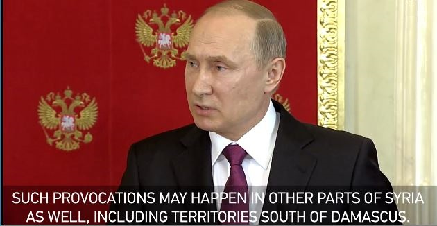Putin: Syria Chemical Attack 'False Flag' To Set Assad Up – More 'Provocations' Coming (Video)