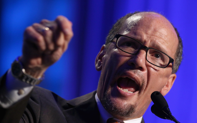DNC Chair Perez Launches Tirade Against Trump: 'You Didn't Win This Election!' (Video)