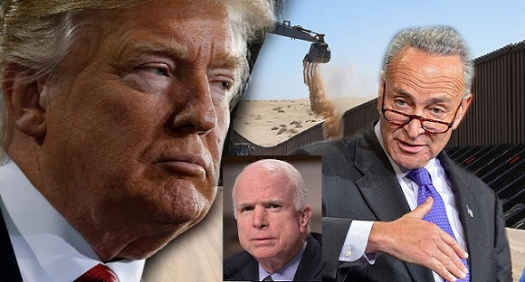 House Democrats And RINO's Blocking Trump's Border Wall Funding For Fiscal Year 2017-2018