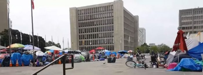 SHOCKING VIDEO: Massive Settlement Outside Courthouses In Major California Sanctuary City