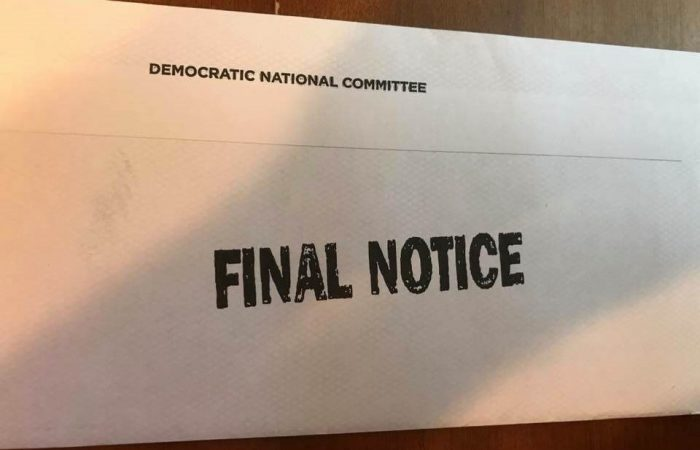 """FINAL NOTICE"": DNC Under Fire for Sending Fundraising Pleas Resembling Collection Letters"