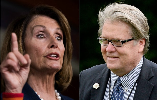 Nancy Pelosi Blames Bannon After Charlottesville Clashes, DEMANDS Trump Take Immediate Action