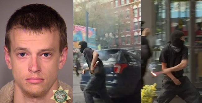 Antifa Rioter Who Pleaded Guilty to Throwing Flare Into Cop Car is Headed to Prison (Video)