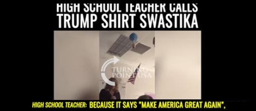 "High School Teacher Compares MAGA Shirt to ""Swastika"" and Kicks Students Out of Class (Video)"
