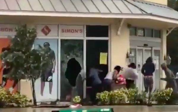 Caught on Video: Looters Break Into Stores in Fort Lauderdale as Hurricane Irma Rages