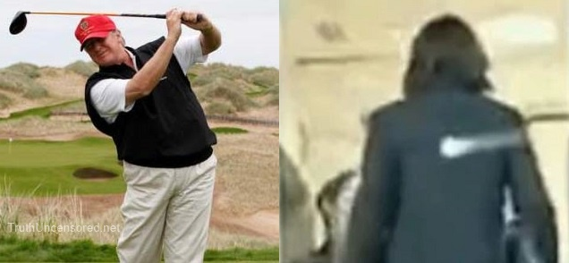 HYSTERICAL: Donald Trump Shares Tweet of Him Hitting Hillary Clinton with a Golf Ball (Video)
