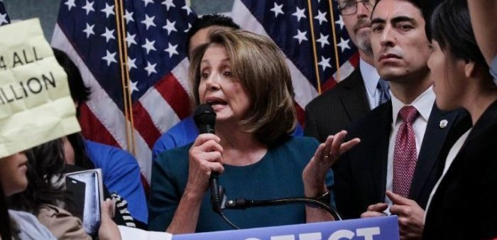Dem Senator Blames Russia For Illegal Aliens Shouting Down Pelosi at Presser (Video)