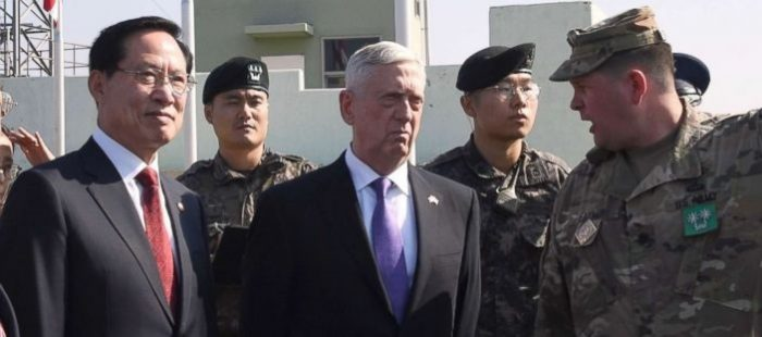 Secretary of Defense General Mattis Visits the Demilitarized Zone to Deliver a Stern Message (Video)