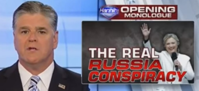 Hannity's Best Ever Monologue: 'Hillary Clinton and Her Husband Sold Out America to the Russians!' (Video)