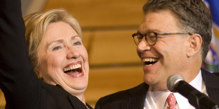 Hillary Clinton Defends Al Franken: 'He Doesn't Need to Resign, He Apologized (Audio)