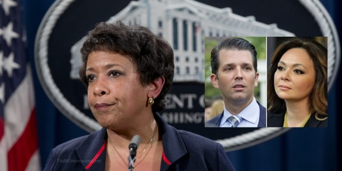 Loretta Lynch Allowed Russian Agent to Enter US to Meet Trump Jr. So She Could Spy on Trump (Video)