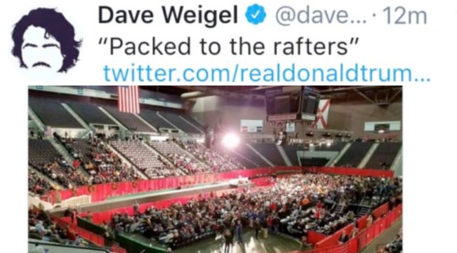 Trump and Deplorables BLAST WaPo's Dave Weigel on Twitter After Reporter Heckles Him with Fake Photo