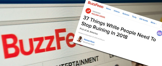 Buzzfeed Faces Backlash For Racist List Of '37 Things White People Need To Stop Ruining In 2018′
