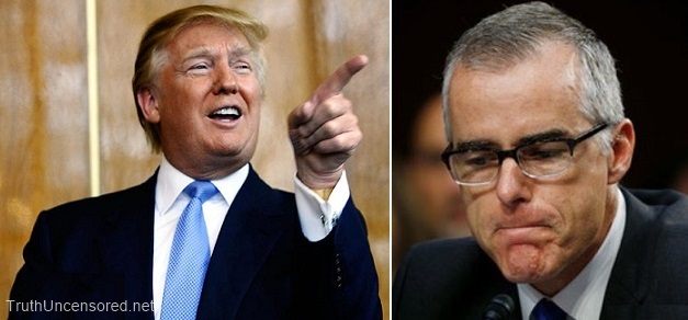 POTUS Donald Trump Taunts Retiring FBI Deputy Director Andrew McCabe