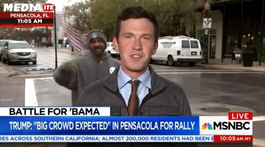 "Hah! MSNBC Interrupted by Pro-Trump Black Man Waving US Flag Screaming ""Roy Moore is Going to Win!"" (Video)"