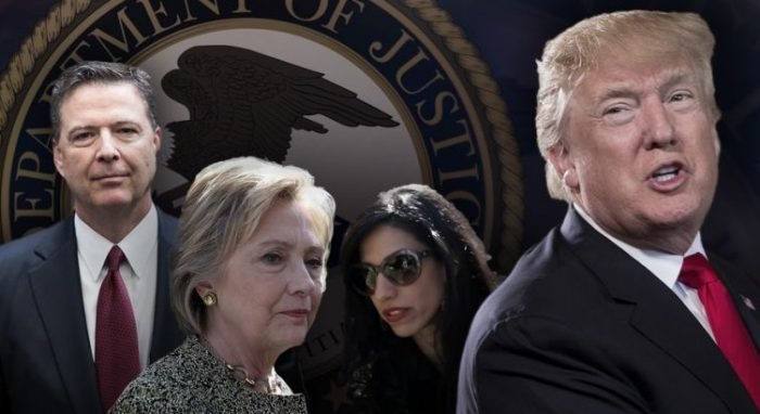 Donald Trump: 'Deep State' Justice Department Must Act Against Huma Abedin, Hillary, and James Comey