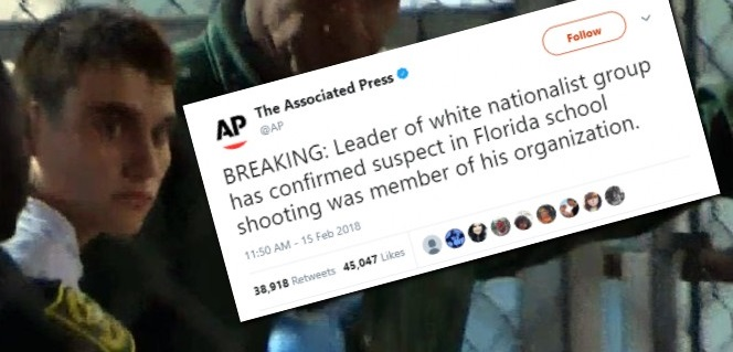 "FAKE NEWS: Lie About Florida Shooter Being Member of ""White Supremacist"" Group – NOT Retracted"