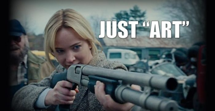 Jennifer Lawrence: 'Problem is Guns, NOT Entertainment Industry That Glorifies Them' (Video)