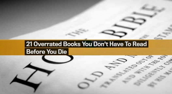 GQ Magazine Deems The Holy Bible One Of The Most 'Overrated' Books Of All Time