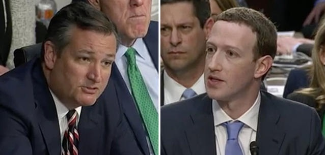 Ted Cruz Grilled Zuckerberg on Facebook Censorship: Who Moderates Your Moderators? (Video)