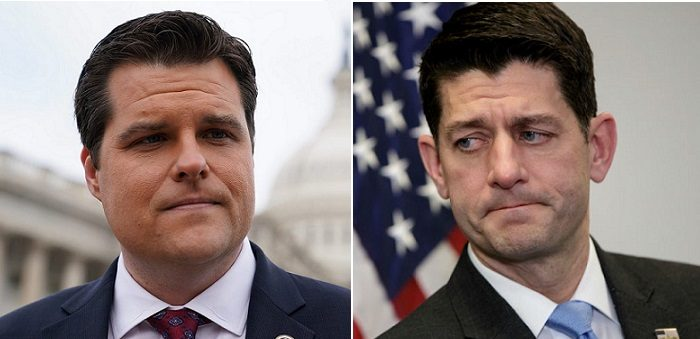 Rep. Gaetz Drops BOMB on Paul Ryan: Today I Heard Lawmakers Call for Removing Speaker Ryan (Video)